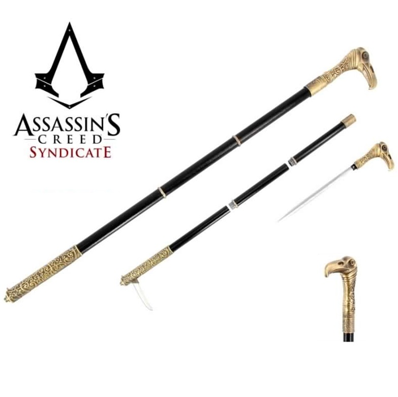 Bastone jacob frye - stocco fantasy da collezione e per cosplay del videogame assassin's creed syndicate.