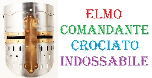 Elmo comandante crociato indossabile .