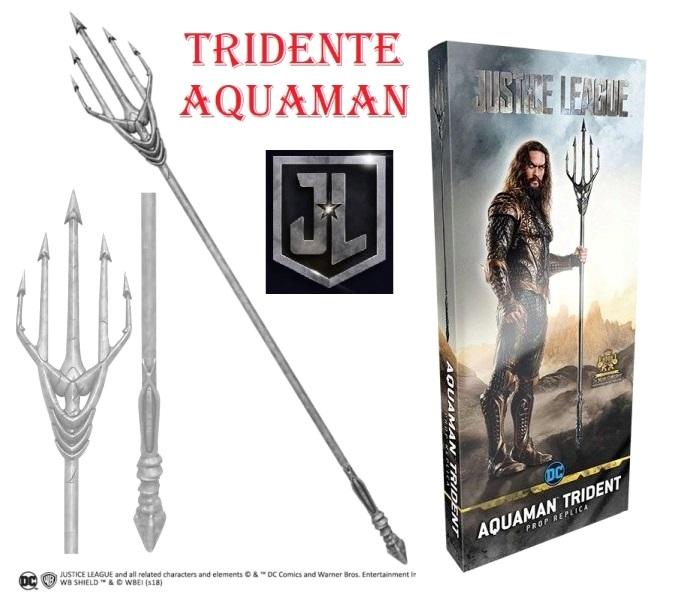 Tridente di aquaman per cosplay - riproduzione ufficiale marca the noble collection di arma atlantidea di arthur curry dei film justice league ed aquaman basati sui personaggi della dc comics.