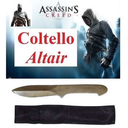 Coltello altair con fodero - coltello dal lancio del videogame assassin's creed.