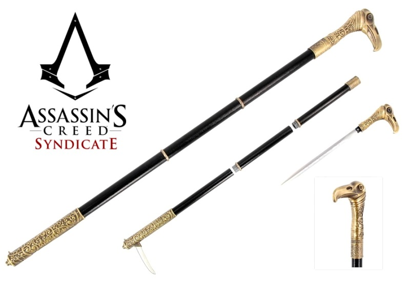 Bastone Animato Jacob Frye - Stocco fantasy da collezione e per cosplay del videogame Assassin's Creed Syndicate
