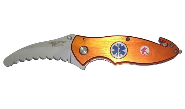 Coltello serramanico multiuso emergency rescue.