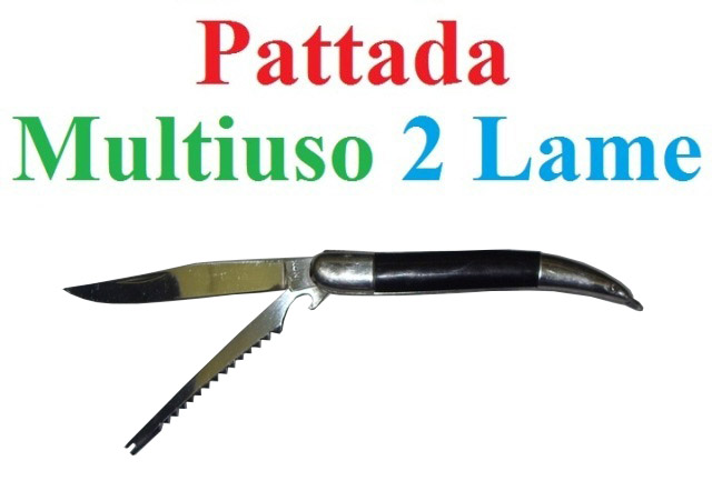 Coltello pattada multiuso con 2 lame.