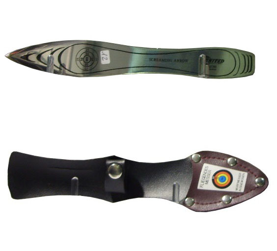 Coltello da lancio screaming arrow con fodero - marca united.