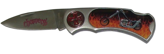 Coltello serramanico choppers con scatola espositore.
