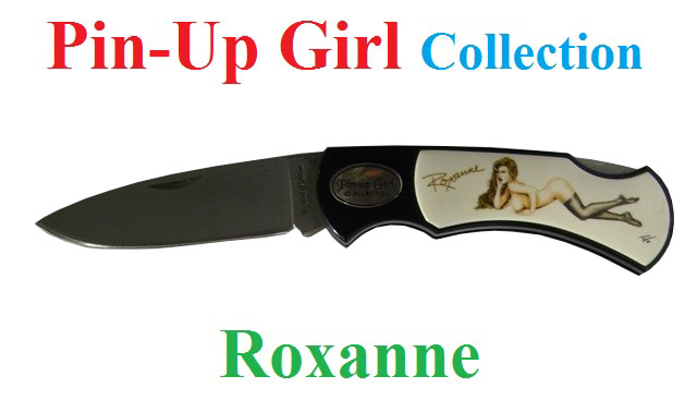 Coltello serramanico pin-up girl collection modello roxanne - serramanico serie limitata numerata - marca united.