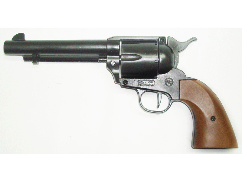 Bruni sceriff single action - revolver a salve calibro 380 mm - arma da segnalazione acustica - replica del revolver colt single action army 1873 calibro 45 a retrocarica con canna da 5,5 pollici.