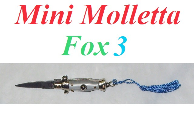 Mini molletta siciliana fox modello 3 con impugnatura in finta madreperla - mini coltello siciliano da collezione - replica in miniatura di coltello a scatto siciliano.