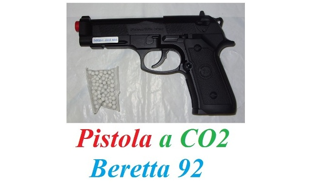 Pistola softair a co2 beretta 92 - pistola softair modello beretta 92 a co2.