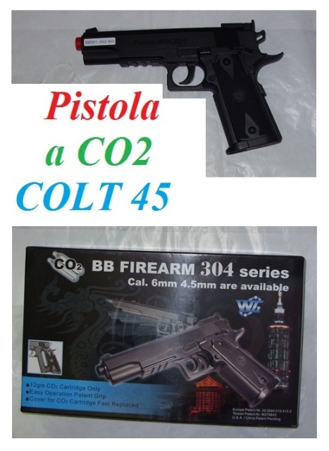 Pistola softair a co2 colt 45 - pistola softair modello colt 45 a co2.