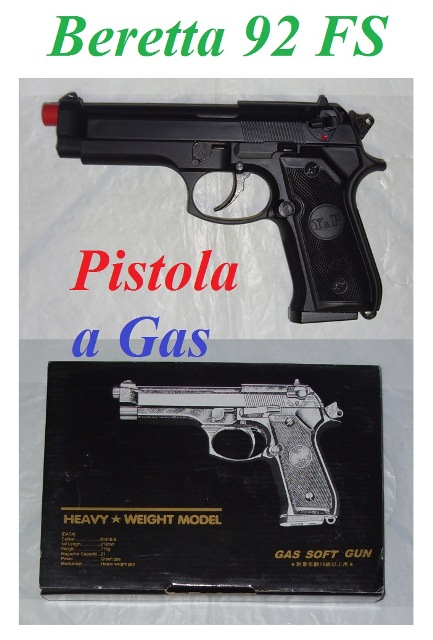 Pistola softair a gas beretta 92 smontabile - pistola softair modello beretta 92 smontabile a gas.