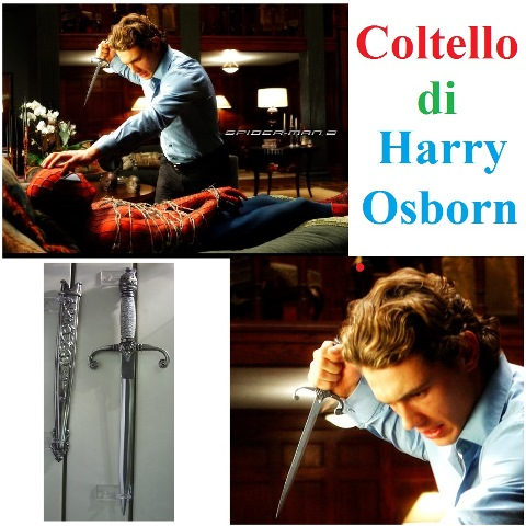 Coltello spiderman 2 di harry osborn - replica del pugnale visto nel film spiderman 2.