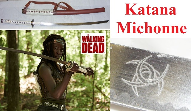 Katana michonne  - spada giapponese con tracolla della serie tv the walking dead.